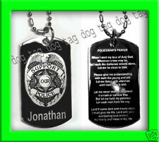 POLICEMAN'S PRAYER POLICE OFFICER DOG TAG OR KEY CHAIN