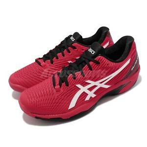 Asics Solution Speed FF 2 Red Black White Men Tennis Shoes Sneakers 1041A182-601