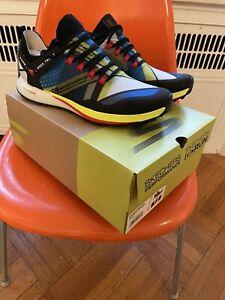 New! $155 Skechers Sz 12 GoRun Speed Trail Shoes. Sneakers. Black Blue. Go Run