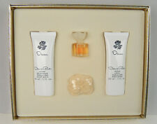 Oscar De La Renta 4pc. Gift Set Perfume Soap Lotion & Gel mousse NEW