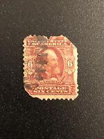US Scott# 305 United States Postage Stamp 1903 6c 6 Cents Garfield Used