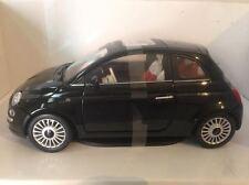 Fiat 500 Mondo Motors scala 1:18 nero nuova modellino