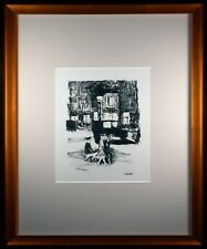 La Rue Original 1927 Lithograph by Pierre Bonnard Signed in the Plate Framed