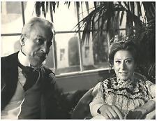 Italia, RAI. Mario Feliciani con Lilla Brignone  Vintage silver print Tirage a