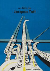 TRAFIC 1971 Jacques Tati, Jacques Lagrange - Movie Cinema Poster Film Art Print