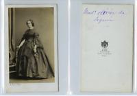 A. Ken, Une dame nommée de Seguin  CDV vintage albumen carte de visite,  Tirag
