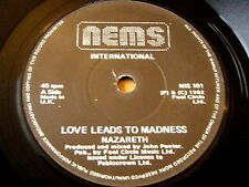 "NAZARETH - LOVE LEADS TO MADNESS    7"" VINYL"