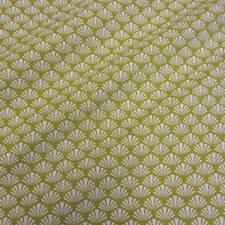 Stoff Meterware Baumwollstoff Fächer grün weiß avocado Japan Kleiderstoff Deko