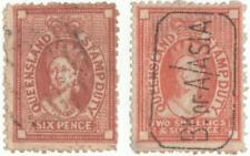 Queensland Stamp Duty'S.1x2 Shillings & 6d Brick Red.1x 6d Redish/Brown Used