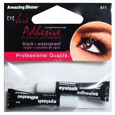 Amazing Shine BLACK Waterproof False Fake Eyelash Glue Pack of 2 Adhesive Strong
