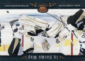 MARC ANDRE FLEURY NO:7 IN HARM`S WAY  in PANINI CROWN ROYALE 2010-11    a