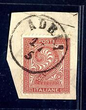 ITALIA - Regno - 1865 - Emissione De La Rue - 2 c. - Cifra - Tir. di Londra