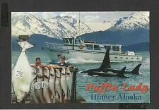 Colour Postcard Puffin Lady Homer Alaska  unposted