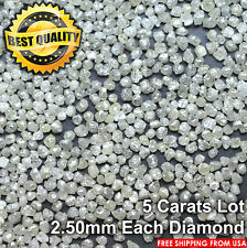 100% NATURAL Loose Rough Diamonds Roundish Very Light Yellow 2.60mm 5carats Lot