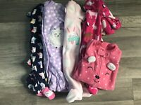 Baby Girl Carter's Newborn Warm Fleece Footed Sleepers Pajamas Clothes LOT of 5