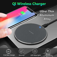 10W QI Fast Wireless Charger Dock Pad Ultra-thin For iPhone 11 XS Samsung Huawei