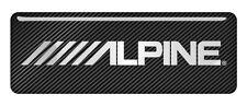 "Alpine 2.75""x1"" Chrome Domed Case Badge / Sticker Logo"