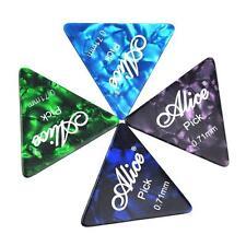50Pcs Alice Medium 0.71mm Triangle Guitar Picks Plectrums Celluloid