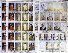 S.TOME E PRINCIPE-Paintings,P.PICASSO-10x7 St.in 5 Sheets-1981-cancel,WS145