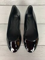 Eileen Fisher Women's 7 Black Patent Leather Slip On Cute Shoes Ballet Flats