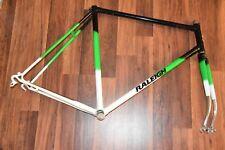 Vintage The Raleigh Bike Frame & Fork bicycle green white black N1B0453