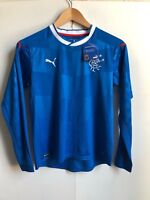 Rangers FC Kid's PUMA 2016/17 L/S Home Match Shirt - 11-12 Years - Blue - New