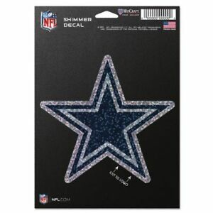 """WinCraft NFL Dallas Cowboys 5"""" x 7"""" Shimmer Decal *NEW*FREE SHIPPING*"""