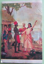 Vintage Raja Ravi Varma MATASYAGANDHI story telling picture postcard C1970-80