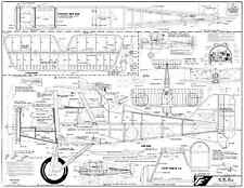 Top Flite SE5A plan by Dave Platt with instructions