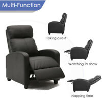 Upgraded Version Air Leather Wingback Recliner Chair Overstuffed Push Back sofa
