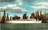 Vintage Postcard - Boats & Ships - Swedish American Line Direct NEW YORK #2847