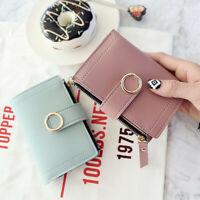 Women Leather Wallet Button Clutch Purse Lady Short Handbag Bag New Hot Fashion