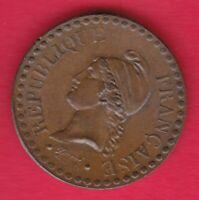 R* FRANCE CENTIME 1849 A UNC DETAILS #22191