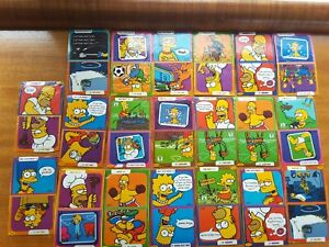 20 set simpsons berri juice sticker 1/2 card tazo picker cards homer bart cards