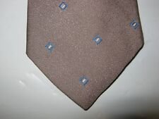 Essex Row Tie Necktie 55 x 3.25 brown blue 14161