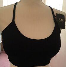 ABS Allen Schwartz black sports bra size L New With Tags MSRP $28.00