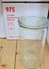 WECK Einkoch Gläser Zylinderglas Weckgläser Einkochgläser NEU Karton mit 6 Stück