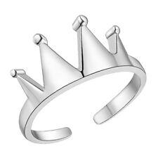 crown ring silver 925plt queen princess gift statement cuff adjustable uk seller