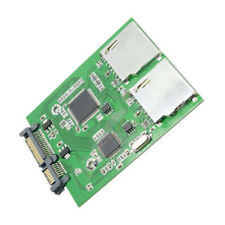 2 Port Dual SD SDHC MMC RAID to SATA Adapter Converter Module For MAC OS Windows