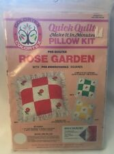 Colortex Quick Quilt Rose Garden Pillow Kit Yellow & White Pre Embroidered 3972