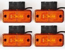 4x 24V SIDE MARKER 3 LED ORANGE LIGHTS w/ bracket TIPPER TRUCK LORRY BUS CARAVAN