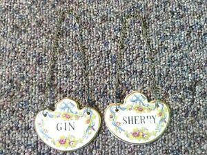 Coalport China Gin & Sherry Label