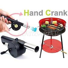 Hand Crank BBQ Fan Air Blower Powered Fire Bellows Outdoor Camping Cooking