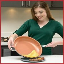 "Copper 12"" Chef Nonstick Fry Pan Frying Skillet Ceramic Induction Seen On TV New"