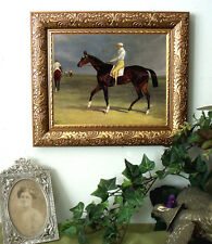 Herring Thoroughbred Race Horse Print Antique Vintage Style Framed 11X13