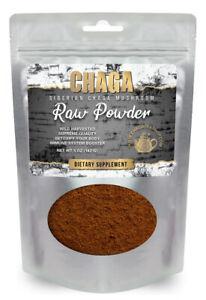 Siberian Chaga Mushroom Raw Powder Wild Harvested All Natural