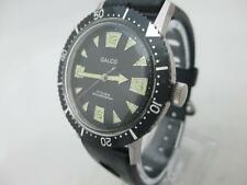 NOS NEW SWISS VINTAGE MECHANICAL HAND WINDING MEN'S GALCO DIVERS WATCH 1960'S