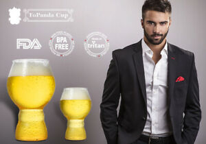 ToPanda Mini Snifter Craft Beer plastic cup (2 pcs) glass mug Outdoor barware