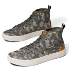 NEW TOMS Trvl Lite Size 8M Dusty Olive Flecktarn Camo Mens High Top Sneakers