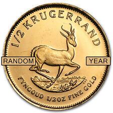 Random Year 1/2 oz Gold South African Krugerrand Coin